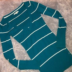 Aeropostale's Deep V Neck Long Sleeve Sweater